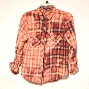 Upcycle Charlotte Russe Acid Wash Grunge XL Plaid